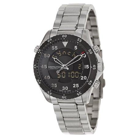 fbd6789d3c5 Hamilton Khaki Flight Timer Analog Digital Men Watch H64554131