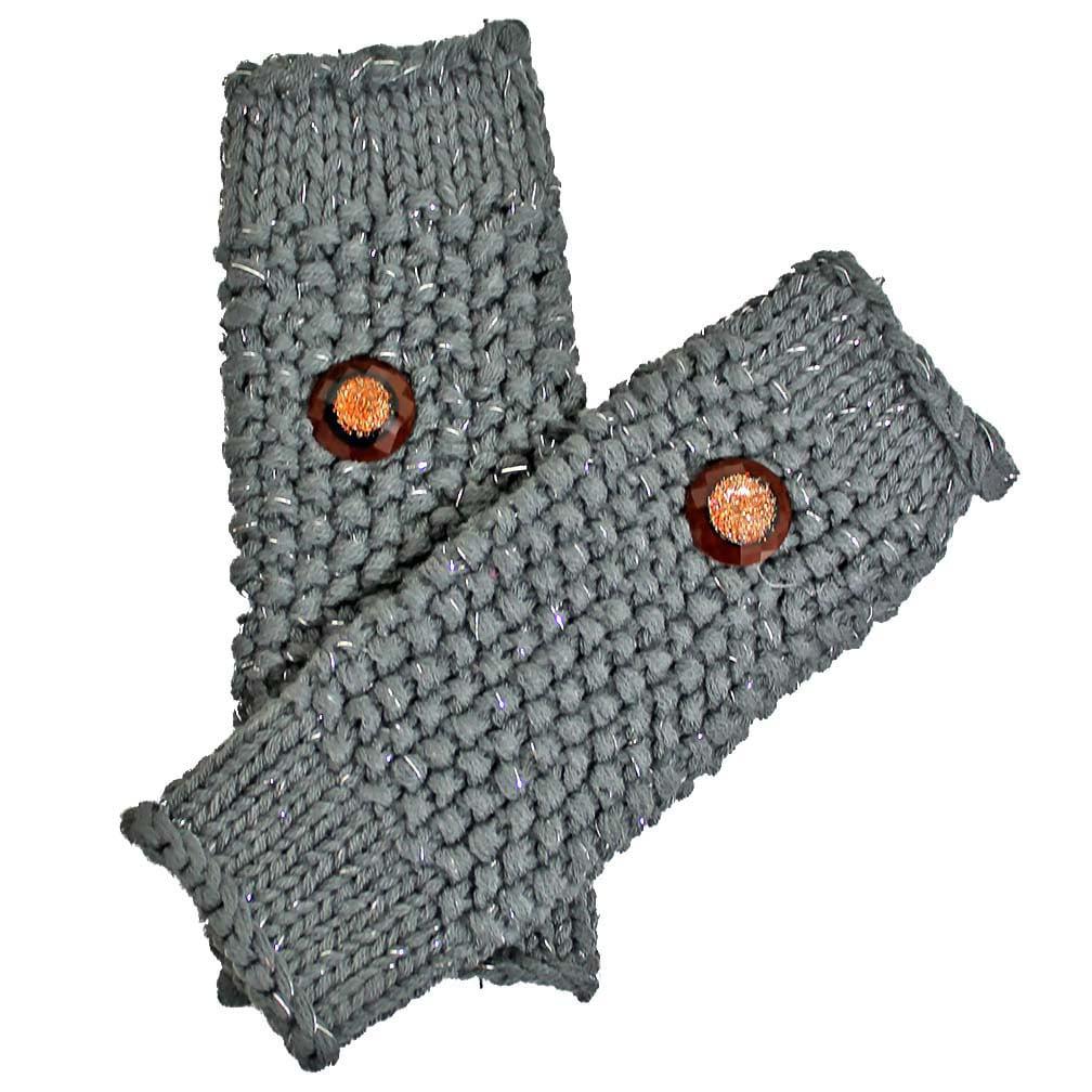 Luxury Divas Metallic Fingerless Arm Warmer Gloves