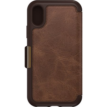 watch 850e2 b649c OtterBox Strada Series Folio iPhone X Case, Espresso