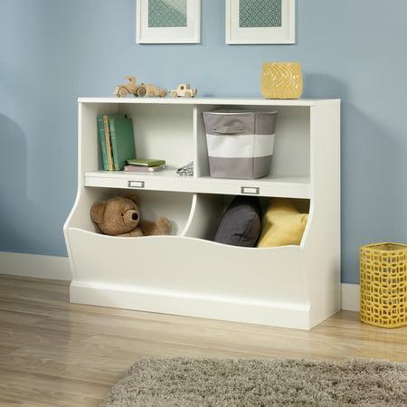 Sauder Storybook Storage Bin Bookcase, Soft White Finish