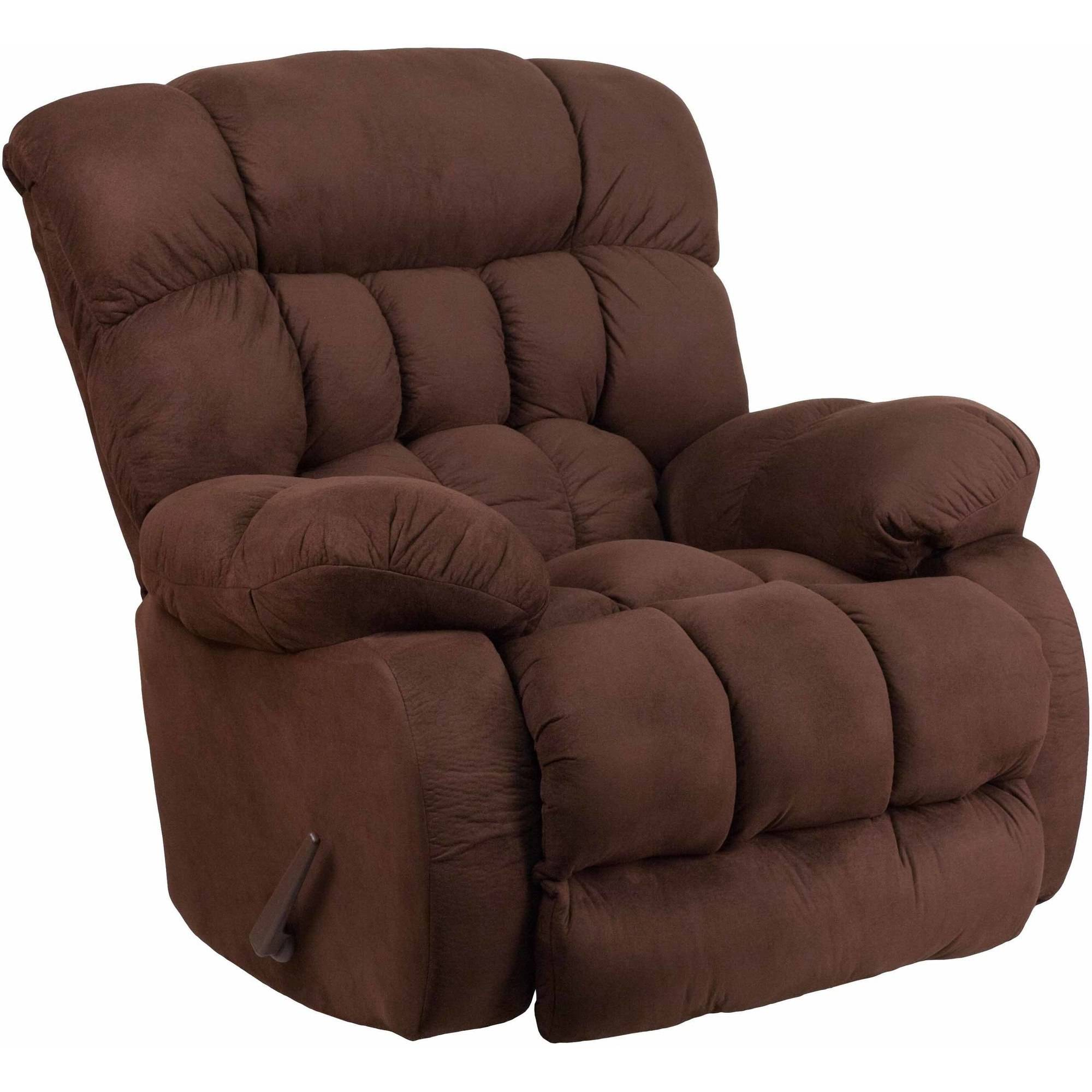 Flash Furniture Contemporary Softsuede Microfiber Rocker Recliner, Multiple Colors
