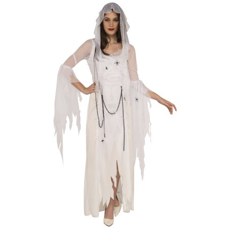 Ghostly Spirit Adult Women White Gothic Ghost Halloween - Ghost Writing Book Spirit Halloween