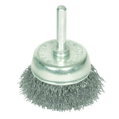 1-3/4 in. x 1/4 in. Shank Crimped Wire Cup Brush