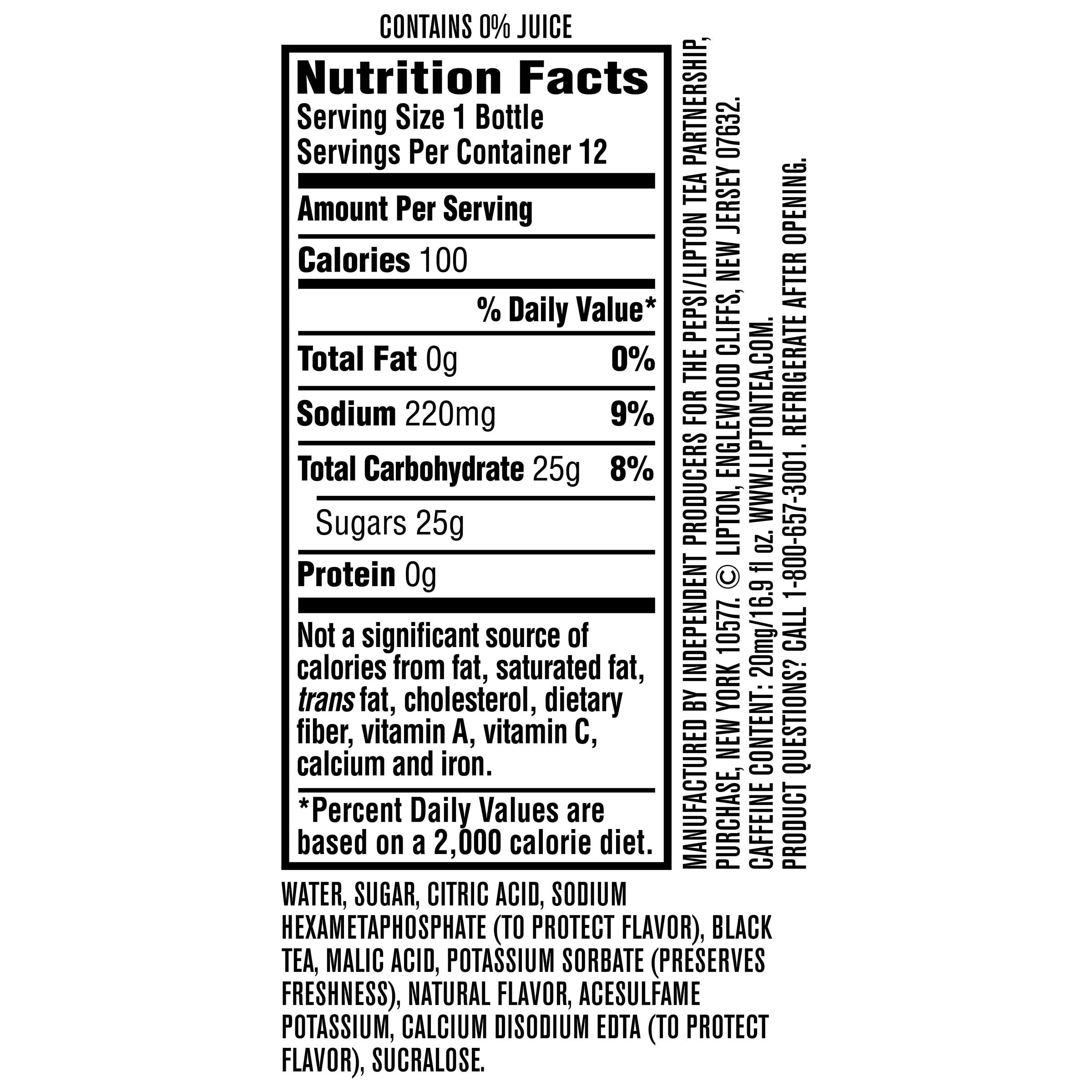 Lipton Tea Nutrition Label - Best Label