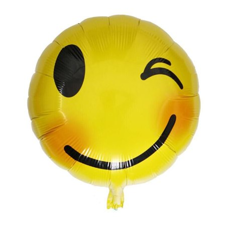 Foil Emoji Helium Balloon Happy Birthday Party Home Decoration
