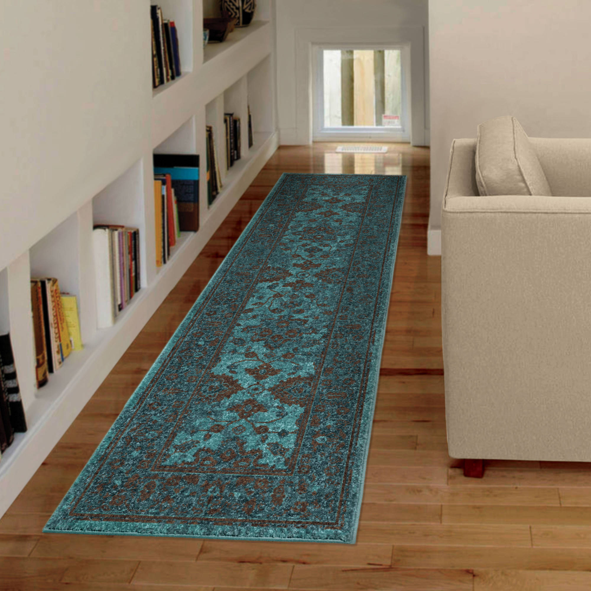 Better Homes and Gardens Deep Blue Vintage Runner