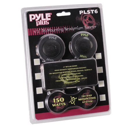 PYLE PLST6 - 1/2'' 150 Watt Mylar Dome Tri-Mount Tweeter