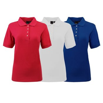 3-Pack Reebok Women's Mystery Pique Polo