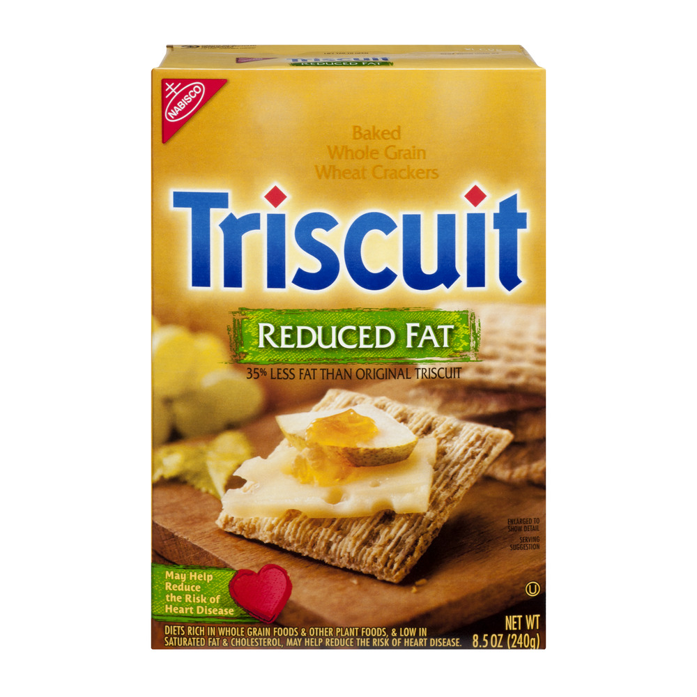 Nabisco Triscuit Reduced Fat Baked Whole Grain Wheat Crackers, 8.5 OZ