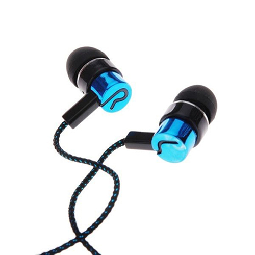 Girl12Queen 3.5mm In-Ear Earbud Wired Stereo Braid Cord Earphone Headset for iPhone Samsung