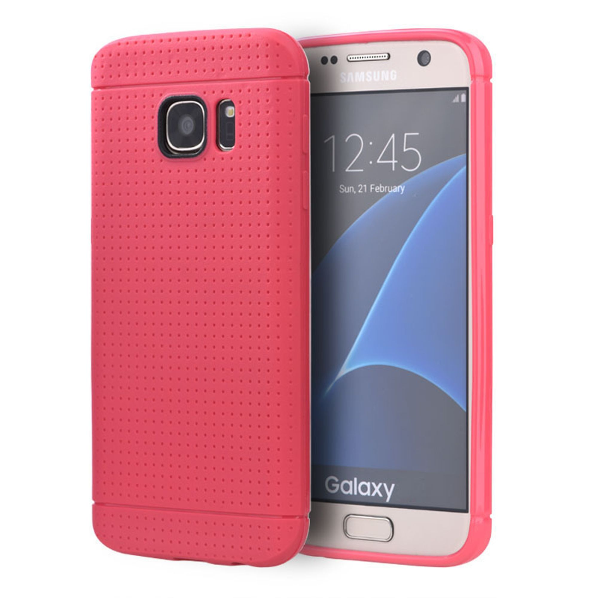 Samsung Galaxy S7 Case, by Insten Dots Rubber TPU Case Cover For Samsung Galaxy S7