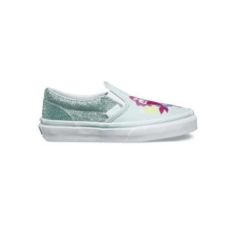 Vans Classic Slip On Mermaid Multi/True White Skate Shoes 12 - Mermaid Shoes