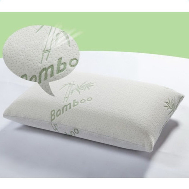 zimtown hotel bamboo memory foam pillow cool comfort kingqueen with carry bag