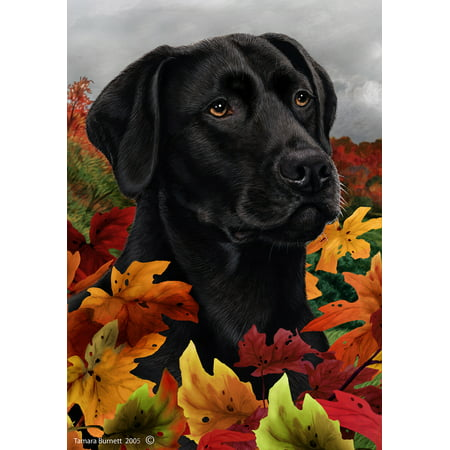 Black Labrador - Best of Breed Fall Leaves Large