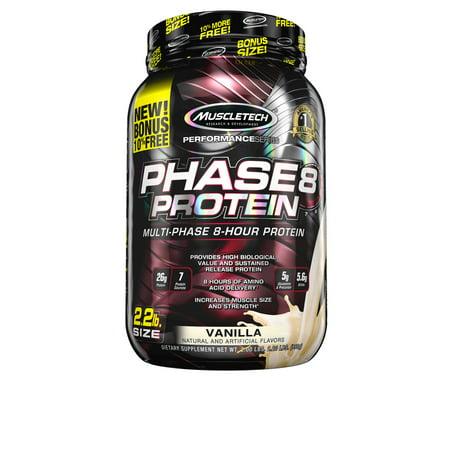 Muscletech Phase 8 Protein Powder  Vanilla  26G Protein  2 5 Lb
