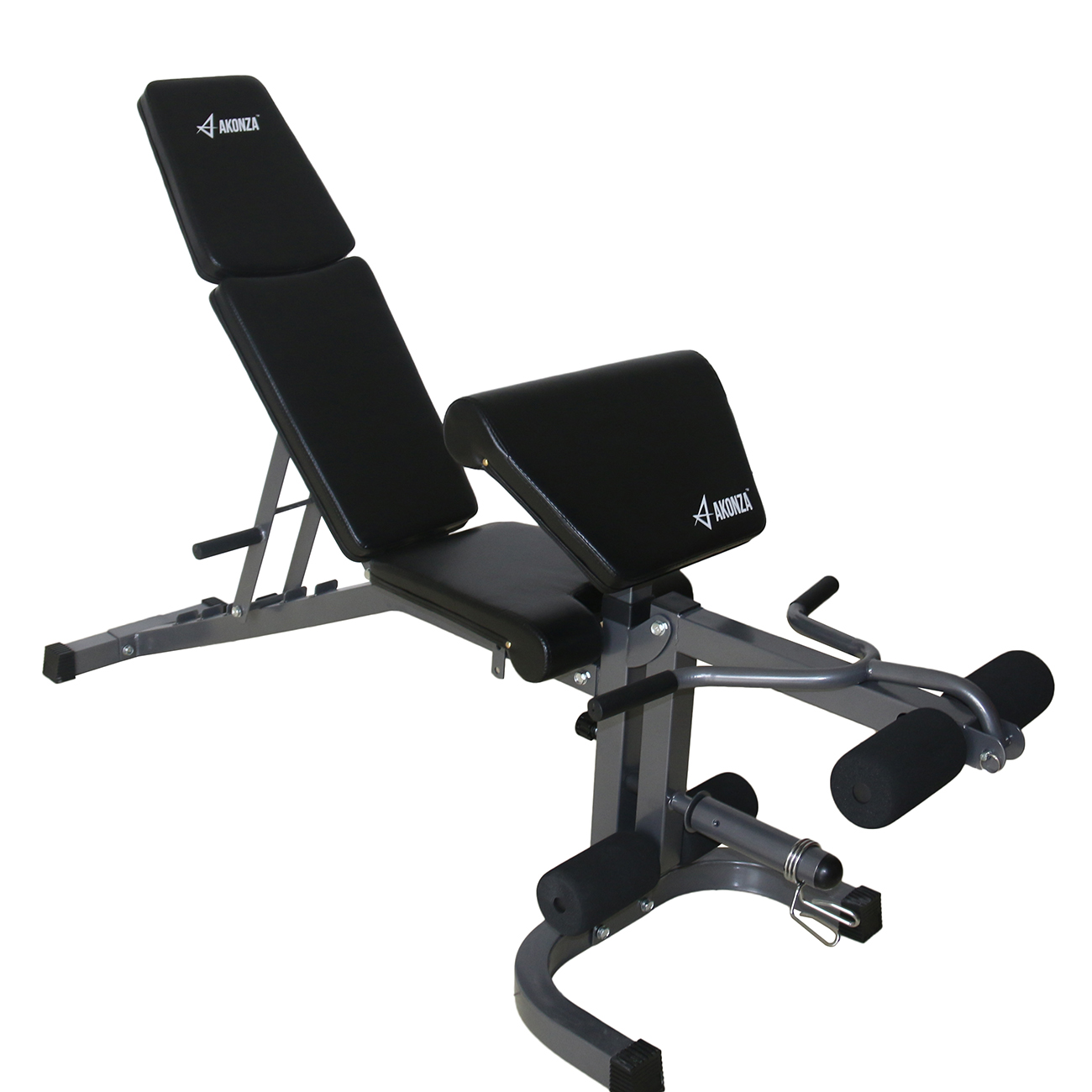 Akonza FID Flat Incline Decline Weight Bench with Leg Extension and Preacher Curl Fitness Equipment Set