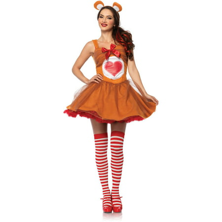Leg Avenue Care Bears Tenderheart Bear Adult Halloween Costume](Build A Bear Halloween Party)