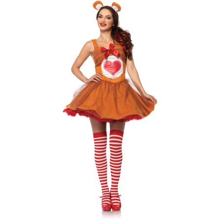 Leg Avenue Care Bears Tenderheart Bear Adult Halloween Costume](Womens Panda Bear Halloween Costume)