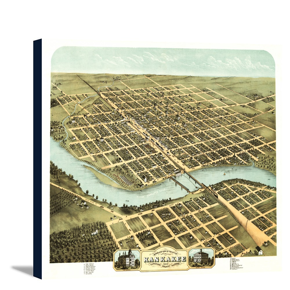 Panoramic Map (12x10 Gallery Wrapped