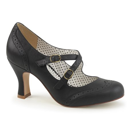 FLAPPER-35, 3'' Kitten Heel Shoes