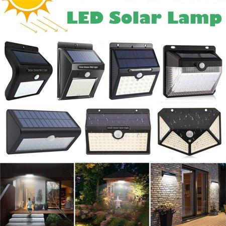 Waterproof LED Solar Lights Outdoor Wireless Motion Sensor Wall Yard Garden Lamp - 33 LED Solar Light - 4 (33 Outdoor Wall)