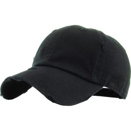 - Washed Solid Vintage Distressed Cotton Dad Hat Adjustable Baseball Cap Polo Style