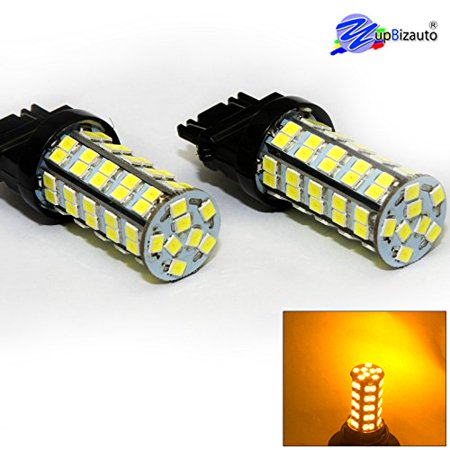 Brand Pair of New 2835 Chips 3157 True High Bright 800 Lumens 68Chips Dual Filament Super Bright LED Light Bulbs 5W, Turn Signal Light, Corner Light, Stop.., By Yupbizauto from USA