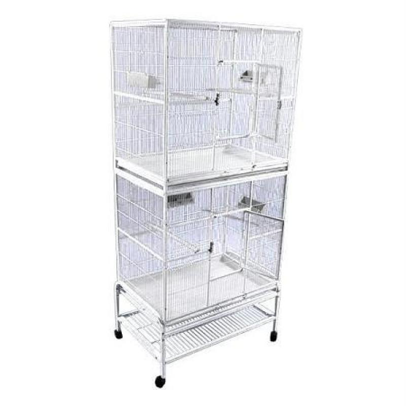 Image of A and E Double Stack Flight Bird Cage Platinum