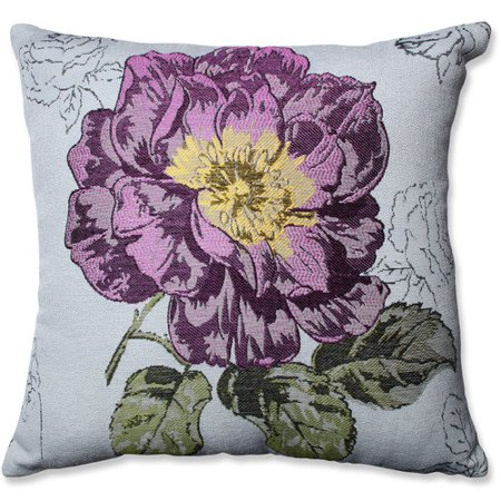Jacquard Decorative Pillows : Pillow Perfect Jacquard Flower Throw Pillow - Walmart.com