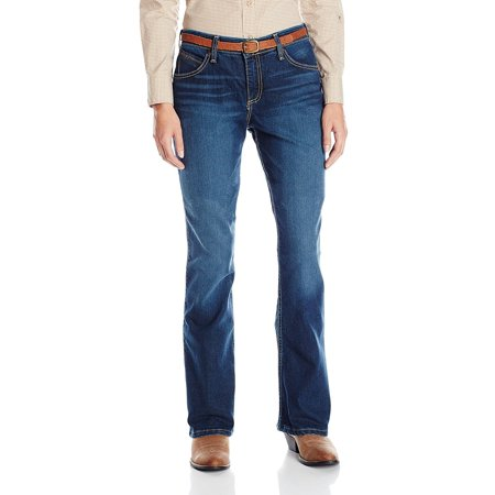 Wrangler Women's Cool Vantage Q-Baby Ultimate Riding Jean, Dark Blue,