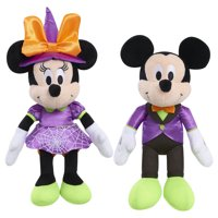 Disney Halloween Bean Plush - Vampire Mickey & Witch Minnie Mouse