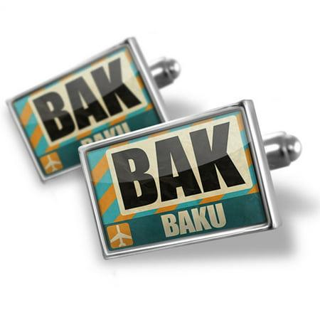 Cufflinks Airportcode Bak Baku   Neonblond