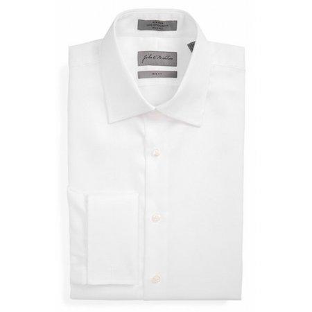 John W Nordstrom New White Trim Frit Mens Size 16 Cotton Dress