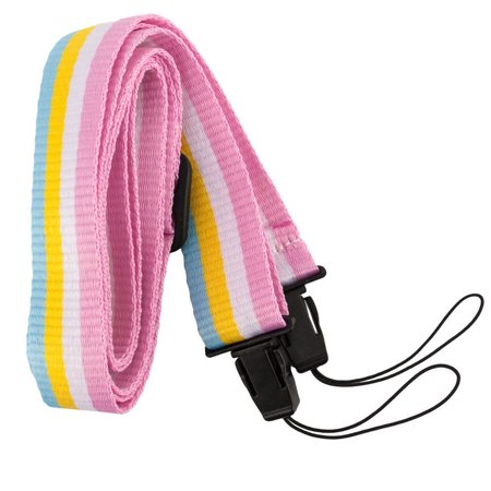 Shoulder Neck Strap For the Fuji Instax Mini 9 8 8+ Camera Rainbow Striped - Top
