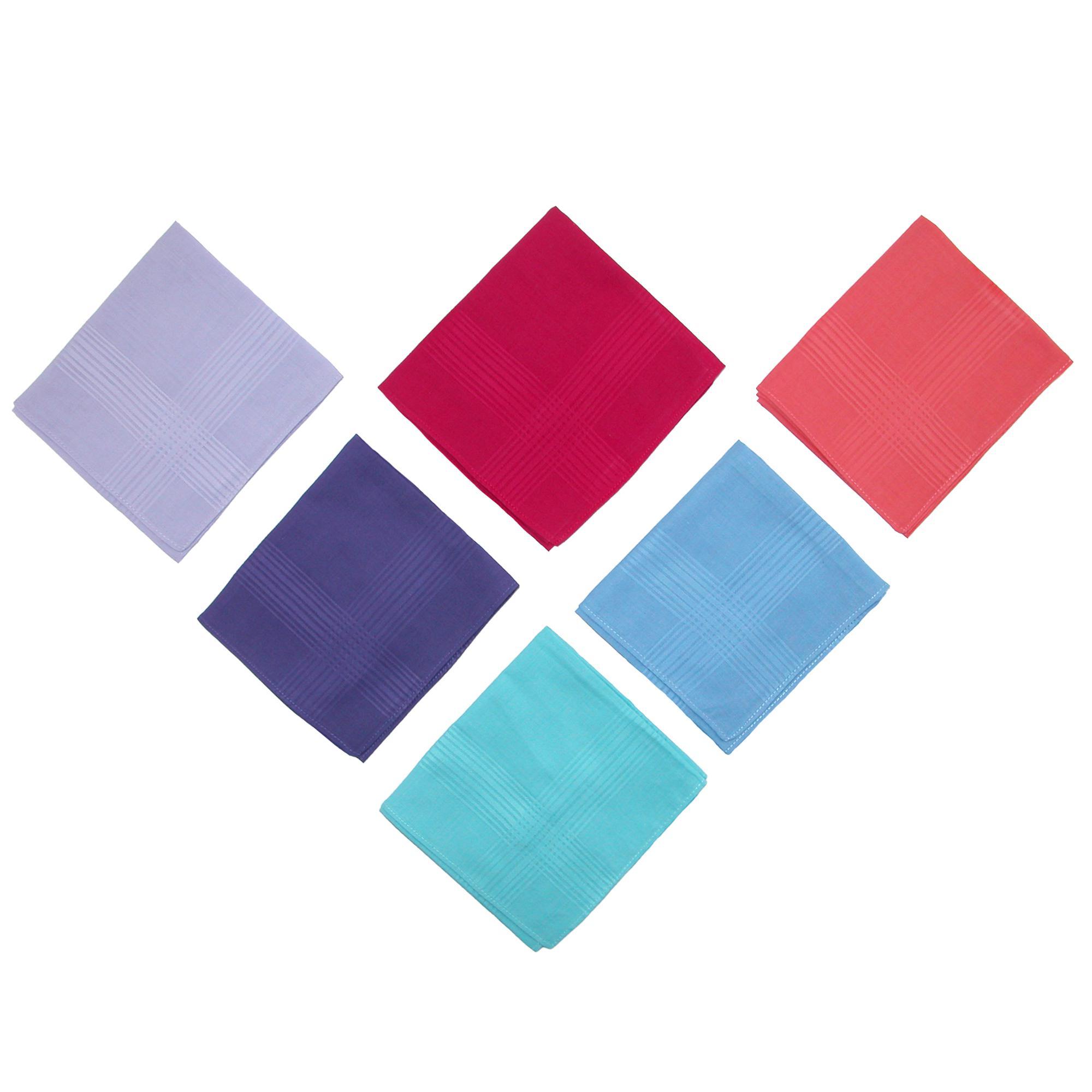 Selini Women's Cotton Bright Multi-Color Dress Handkerchief Set (Pack of 6) - image 2 de 4