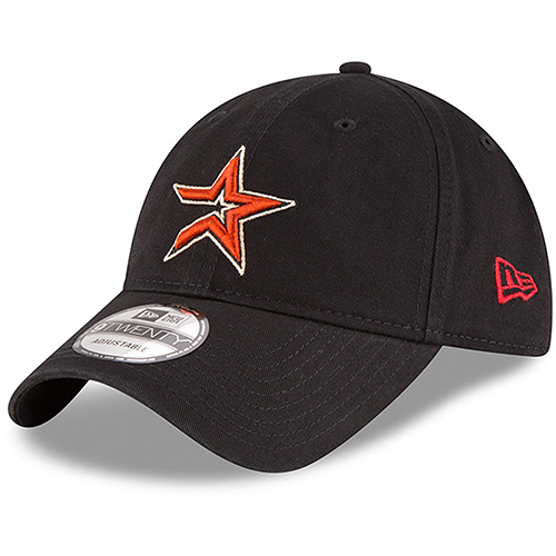 Houston Astros New Era Cooperstown Collection Core Classic 9TWENTY Adjustable Hat - Black - OSFA