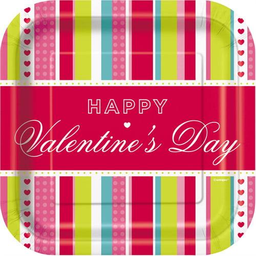 """Valentine's Day 7"""" Plates"""