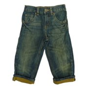 Healthtex Infant & Toddler Boys Light Wash Denim Jeans With Brown Cuff