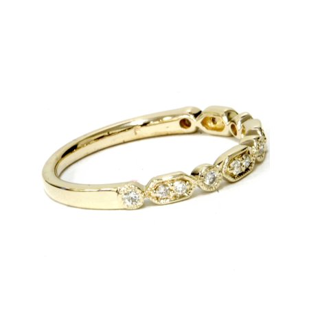 1/6ct Diamond Wedding Stackable Ring 14k Yellow Gold - image 3 of 4