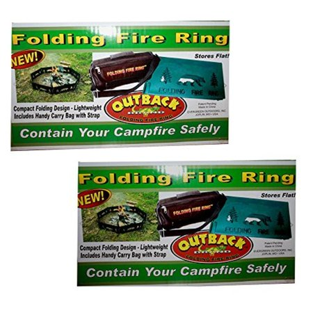 Outback Folding Fire Ring With Carrying Case Lot of 2 Savings Bundle