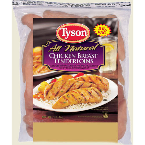 Tyson: Iqf Boneless Skinless Chicken Breast Tenderloins, 48 Oz