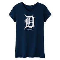MLB Detroit TIGERS TEE Short Sleeve Girls 50% Cotton 50% Polyester Team Color 7 - 16