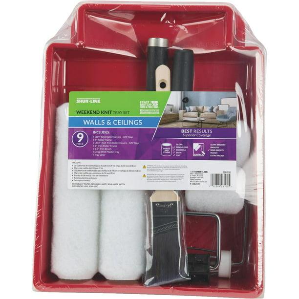 Shur Line 2007030 Paint Roller Kit 9 Pieces Polypropylene Walmart Com Walmart Com