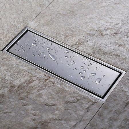 Stupendous Stainless Steel Square Hidden Anti Odor Bathroom Floor Drain Waste Grate Bathtub Shower Drainer Strainer 11 8X4 3X1 4 Inch Download Free Architecture Designs Fluibritishbridgeorg