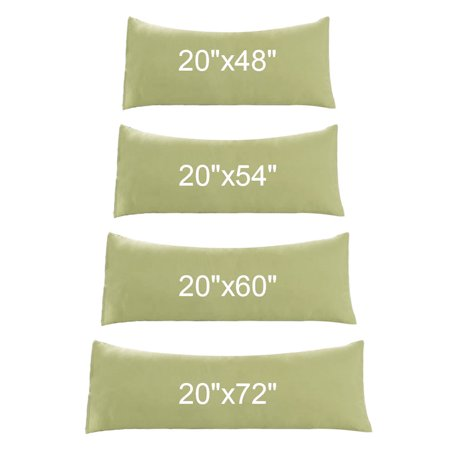 """Body Pillow Case Microfiber Long Bedding Body Pillow Covers Sage 20""""x72"""" - image 5 of 7"""