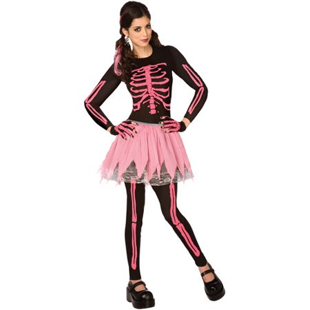 P Nk Costumes Halloween (Pink Punk Skeleton Adult Halloween)