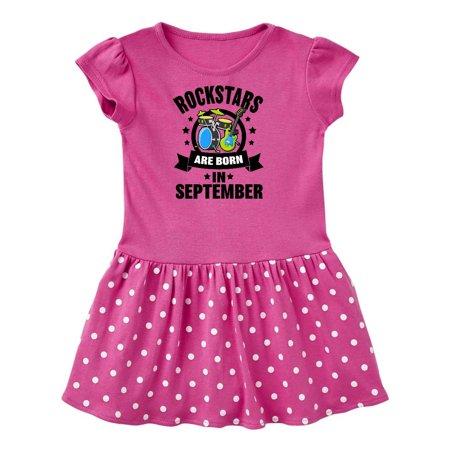 Rockstars are Born in September Birthday Toddler - Rockstar Dress