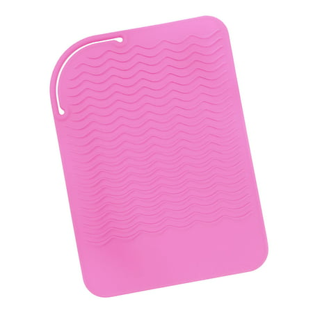 Pink Heat Resistant Silicone Travel Mat Anti Heat Pad For