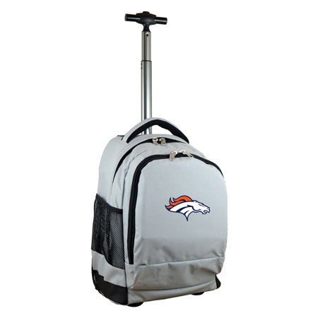 Denver Broncos 19 Premium Wheeled Backpack - Gray
