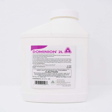 Dominion 2l, Professional Termite Control,termidor,termiticide Concentrate, Pests: Subterranean Termites and other pests. Read label for pest.., By Control Solutions